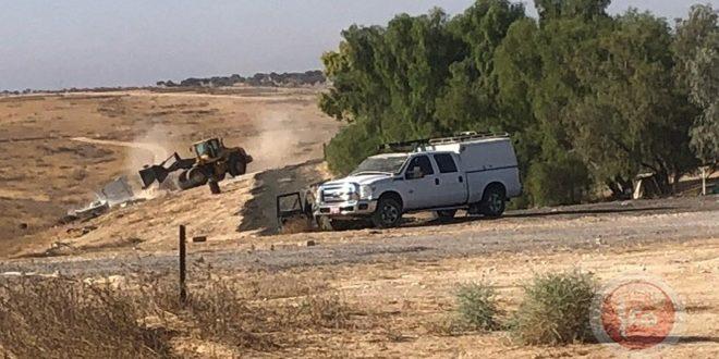 כוחות הכיבוש הישראלי הורסים כפר אלעראקיב לפעם ה- 182