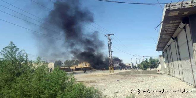 קסד רודפת אחרי עשרות חמושים בפריפריה של אל-חסכה