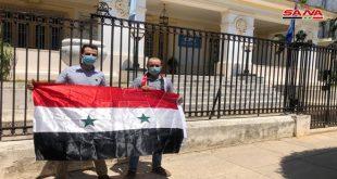 הסטודנטים ובני הקהילה הסורית בקובה הדגישו כי הצעדים המערביים נגד סוריה מהווים טרור כלכלי