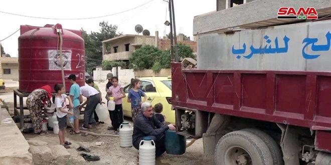 המשך הסבל של תושבי אל-חסכה כתוצאה לניתוק שאיבת תחנת עלוק ליום ה -12 ברציפות