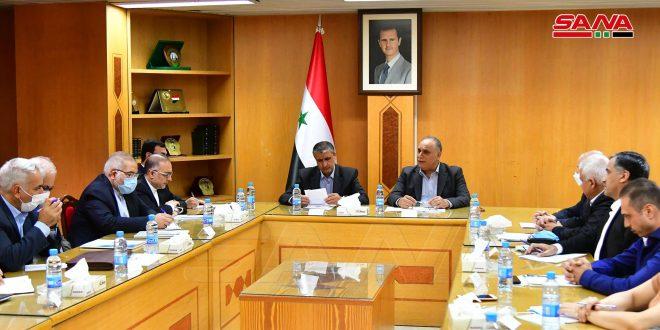 אל-בראזי דן עם שר הדרכים האיראני בביצוע התוכן של ההסכמים הדו-צדדיים