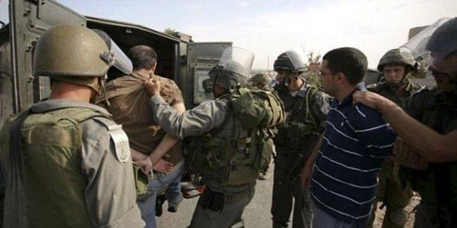 עצירתם של 11 פלסטינים על ידי כוחות הכיבוש בגדה המערבית