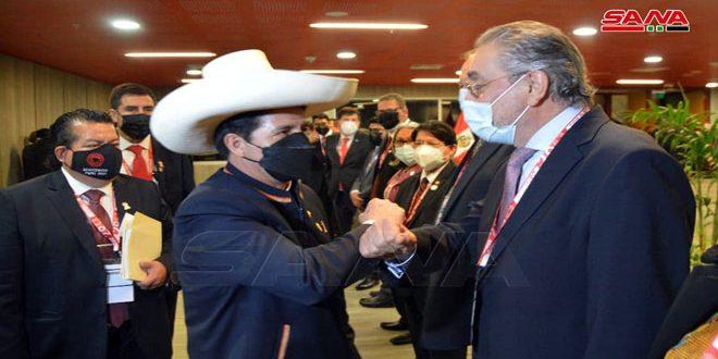 שגריר סוריה בקראקאס משתתף בטקסי כניסת נשיא פירו הנבחר לתפקיד הנשיא
