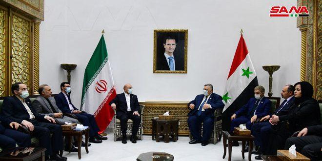 סבאע' נפגש עם קאליבאב והדגיש את חוזקת הקשרים בין סוריה לאיראן