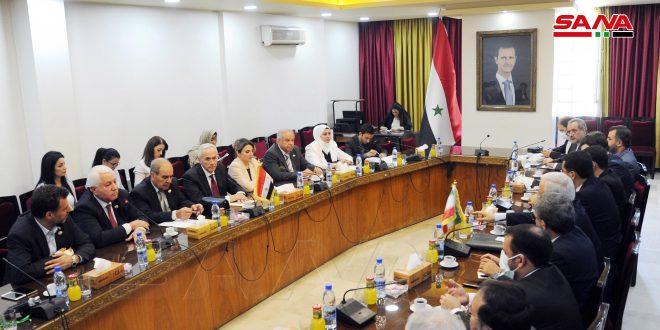 שיחות לחזק ולפתח את הקשרים הפרלמנטריים בין סוריה לאיראן