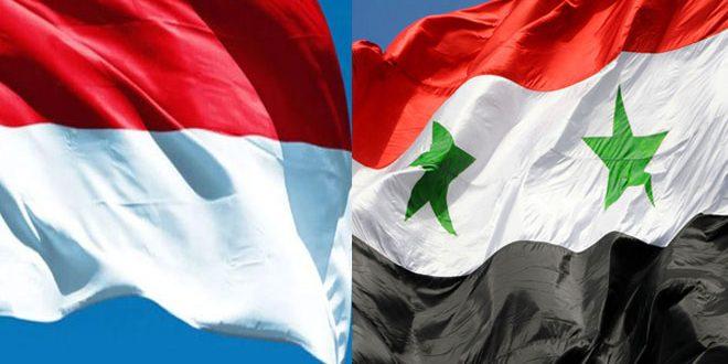 שיחות של שיתוף פעולה בתחום האנרגיה בין סוריה לאינדונזיה