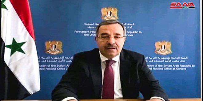 השגריר אלא: ההליכים השרירותיים נגד סוריה בלתי מוסריים ופוגעים במאמצי השיקום והפיתוח