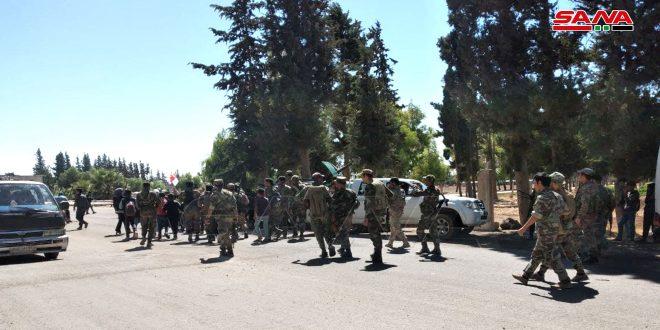 יחידות הצבא פרוסות בכפרים חייט, ג'לין, אל-מזיירעה וסחם אלג'ולן בריף דרעא