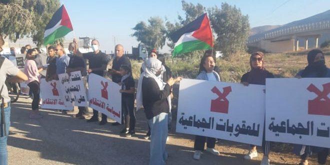 """הפגנה בשטחי תש""""ח בגינוי פשעי הכיבוש נגד האסירים"""