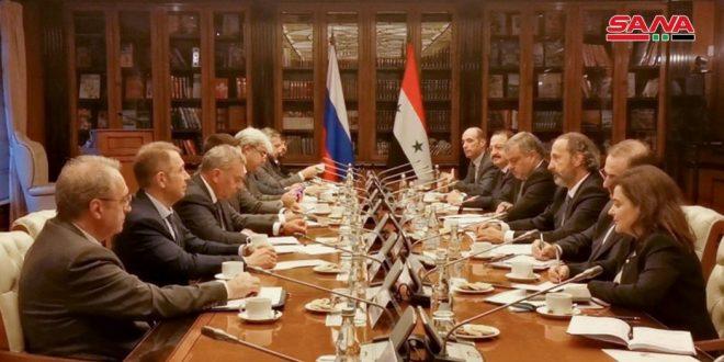 פגישת עבודה של הוועדה הבין ממשלתית הסורית –רוסית המשותפת במוסקבה
