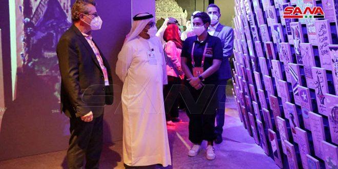 שר החוץ של איחוד האמירויות ביקר בביתן הסוריה ביריד אקספו בדובאי