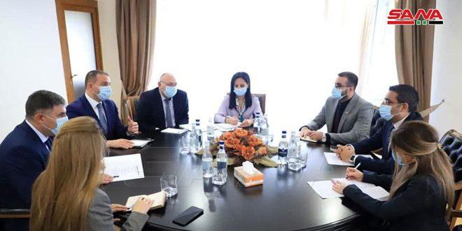 שר הכלכלכה הארמיני דן עם השגריר הסורי בחיזוק שיתוף הפעולה בין שתי המדינות