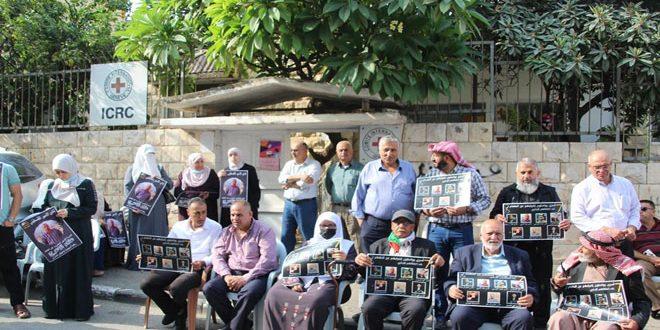 עצרת הזדהות עם האסירים הפלסטינים בבתי המעצר של הכיבוש