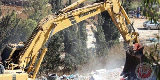 כוחות הכיבוש הרסו בית פלסטיני בדרום שכם