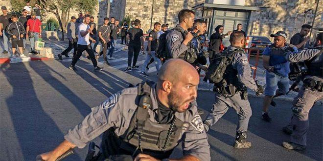 5 פלסטינים נפצעו בכדורי כוחות הכיבוש באזור באב אל-עאמוד