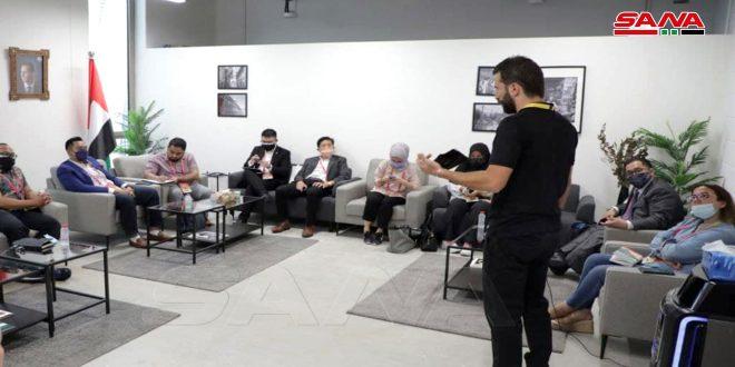 שיחות של נציגי הביתן הסורי ביריד אקספו דובאי עם עמיתיהם ממדינות שונות