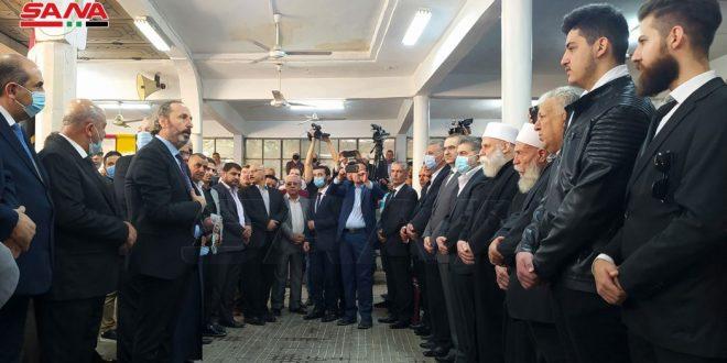 בהנחית הנשיא אל-אסד … השר עזאם מגיש תנחומים בנפילת הנאבק מדחת א-סאלח