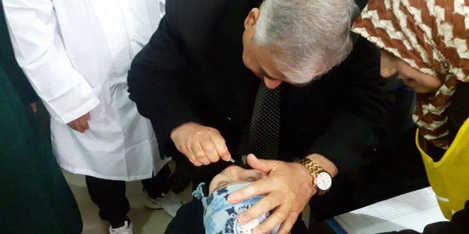 В провинции Дейр-эз-Зор продолжается кампания вакцинации детей против полиомиелита