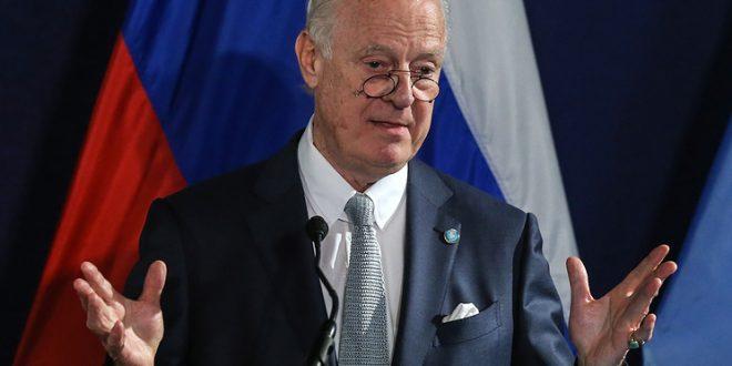 Де Мистура: Девятый раунд переговоров по Сирии пройдёт в Вене 25-26 января