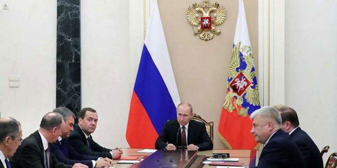 Президент России обсудил с Совбезом РФ Сирию