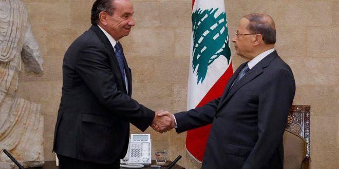 Аун призвал к политическому решению кризиса в Сирии