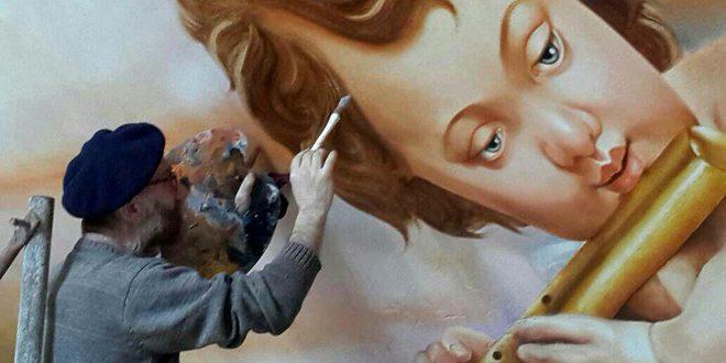 В католической церкви в Алеппо создается уникальная картина