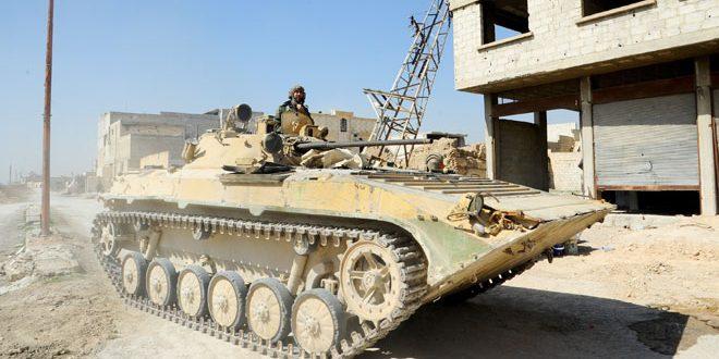 Сводка контртеррористических операций Сирийской армии за 8 марта