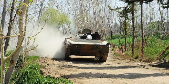 Сводка контртеррористических операций Сирийской армии за 14 марта