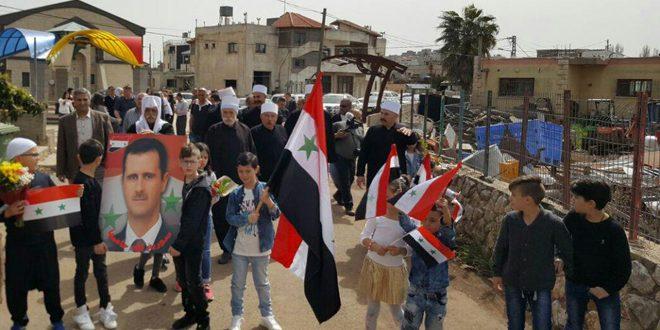 Жители оккупированных сирийских Голан отметили 55-ю годовщину Революции 8 марта
