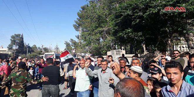 Жители Джейруда а в Восточном Каламуне радуются входу сил МВД