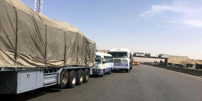 В Восточную Гуту из провинции Хомс отправлен конвой с гуманитарным грузом