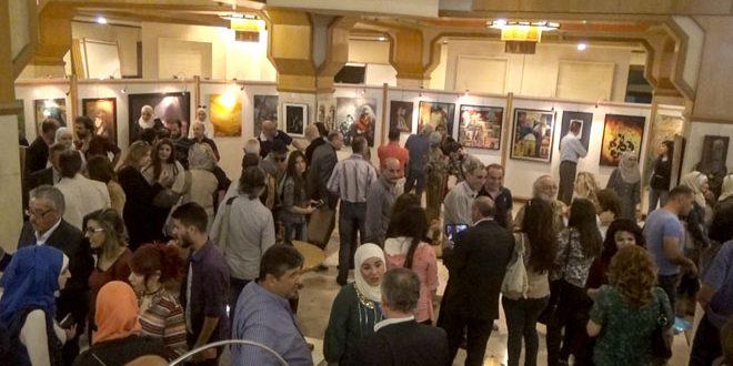 В Дамаске в галерее Дворца культуры открылась IV выставка живописи и скульптур
