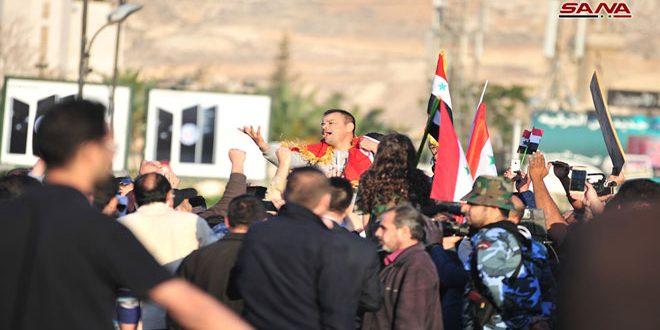 Сирийцы протестуют против агрессии США, Великобритании и Франции