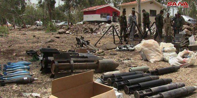 На севере провинции Хомс обнаружено большое количество различных видов оружия и боеприпасов