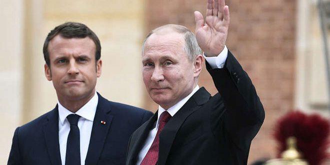 Путин и Макарон разделяют идеи по урегулированию кризиса в Сирии