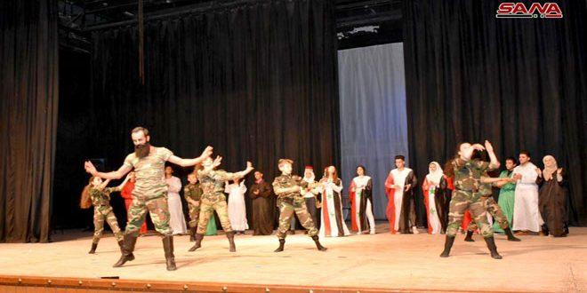 Театрализованное шоу «Синдиана» в рамках национального проекта «Сирийская икона — Хама» имело большой успех