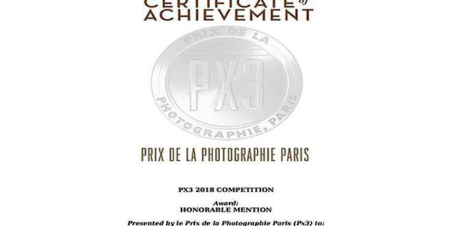 Сирийский фотограф получил награду в международном фотоконкурсе (PX3) 2018 в Париже