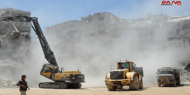 В Харасте продолжается расчистка дорог