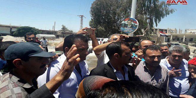 Сотни семей вернулись в поселок Харран Аль-Авамид провинции Дамаск