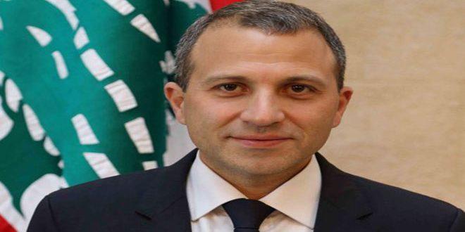 Бассиль: Цель Ливана и Сирии обеспечить возвращение сирийских беженцев в их страну