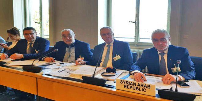Сирийская делегация принимает участие в заседании Парламентской ассамблеи Средиземноморья