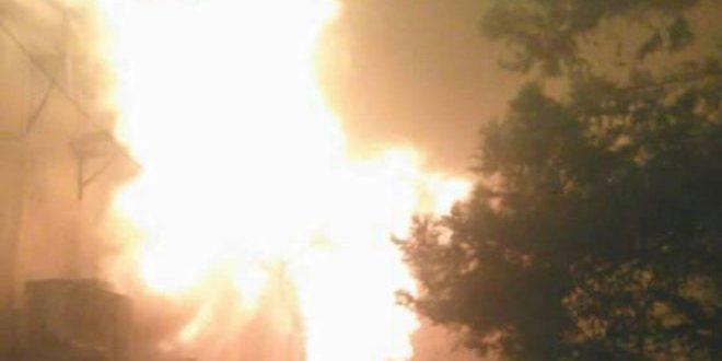 Крупный пожар в Культурном центре города Эль-Камышлы потушен