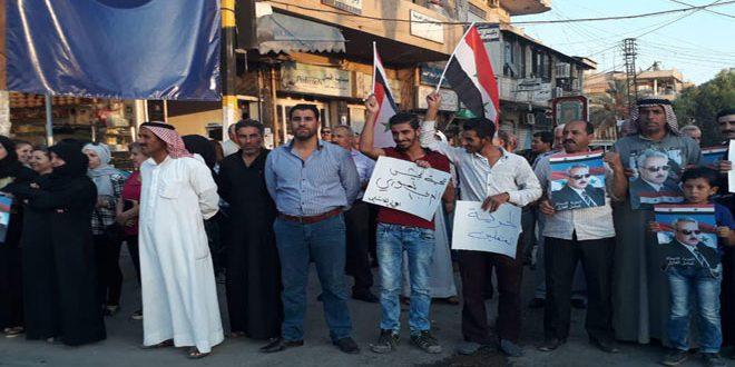 Сотни жителей города Эль-Камышлы вышли на акцию протеста против произвола «Асаиш»