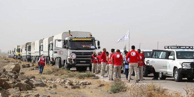 В 13 населенных пунктов провинции Дараа прибыл гуманитарный конвой