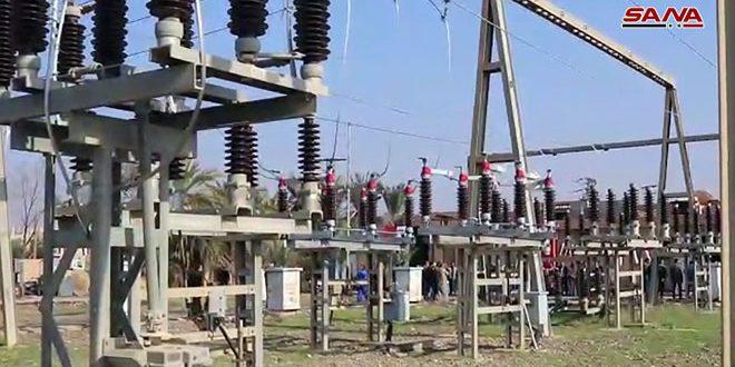 Возобновлена подача электроэнергии в город Меядин провинции Дейр-эз-Зор