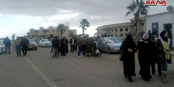 Через КПП «Насиб» из Иордании возвращаются сотни сирийцев