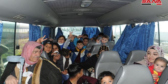 Новая группа сирийских беженцев прибыла на КПП «Насиб»