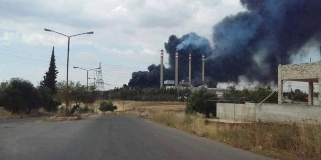 Террористы обстреляли электростанцию Мхарда и селение Ас-Сафсафия провинции Хама
