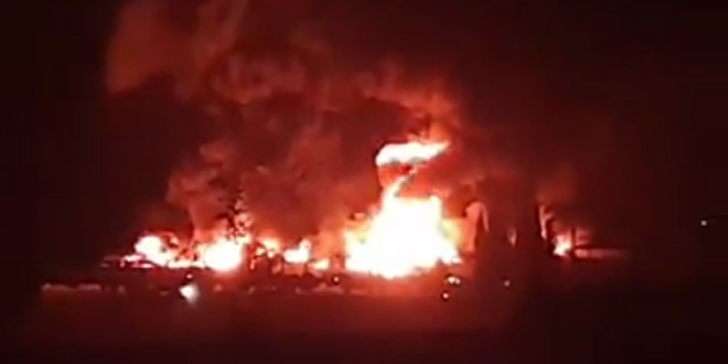 В провинции Дамаск локализован пожар на лакокрасочном предприятии