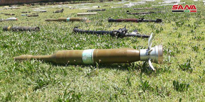 В провинциях Дамаск и Дараа найдены оружие и боеприпасы, оставленные террористами